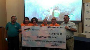 Lufussa entrega donativo al Hospital del Sur
