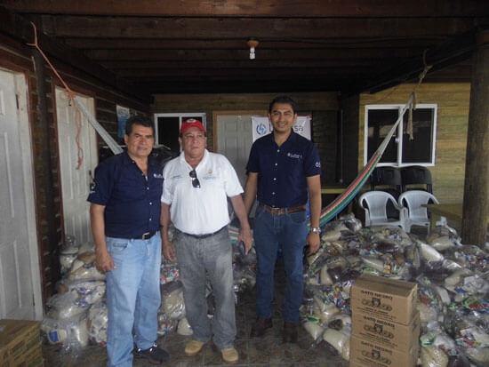 Lufussa provee los alimentos para el sustento de las familias de los pecadores durante la temporada de veda de la tortuga golfina ya que al no comercializar los huevos no tienen otra fuente de ingreso.